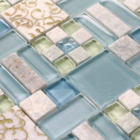 Font B Marble B Font Tile Sheets Square Stone Mosaic Art Wall Font B